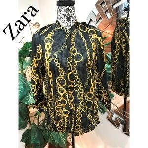 Zara women button down blouse